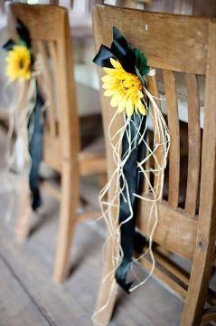 diy wedding decor decorations chairbacks sunflowers rustic wedding wedding accessories shop wedding flowers and wedding decorations www.afloral.com
