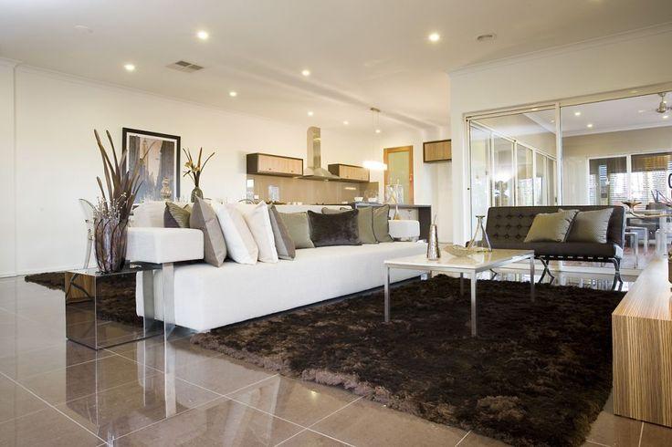 National Tiles Living Room Tiles - STRATOS MOCCA POLISHED (600X600)  MAXFL7091   Info: Floor Tiles  Grout: Light Grey