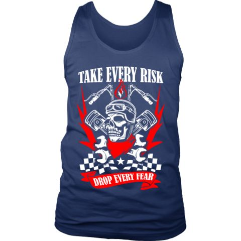 Motorcycle - 'Take Evey Risk' District Men's Tank