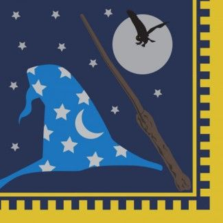 Harry Potter Party Supplies, Wizard Academy Lunch Napkins, Tableware