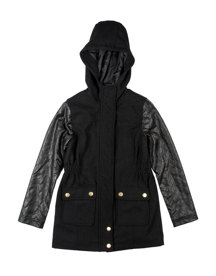 Wool Blend Melton Coat