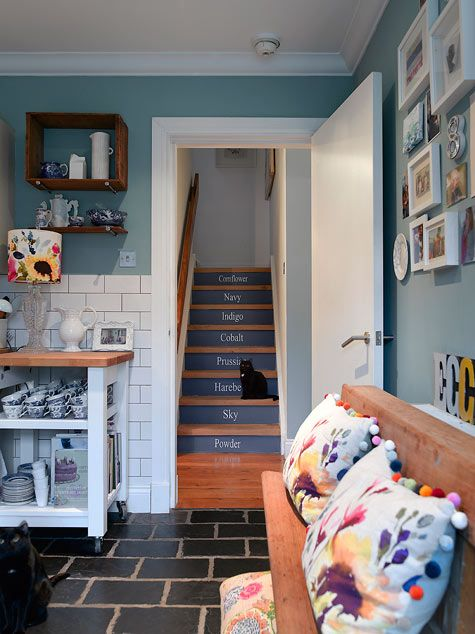 "Farrow & Ball's ""Dix Blue""Wall Colors, Kitchens Colors, Chalkboards Painting, Home Remodeling, Green Wall, Blue Green, Home Design, Wall Colours, Design Quotes"
