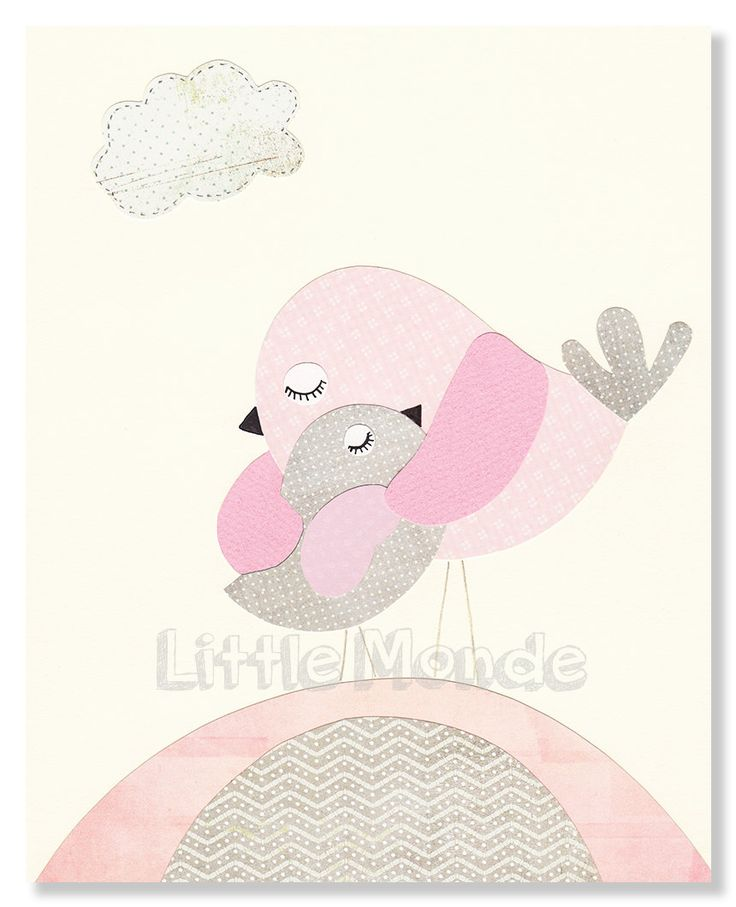 Pink And Grey Nursery Baby Girl NurseryNursery Art by LittleMonde
