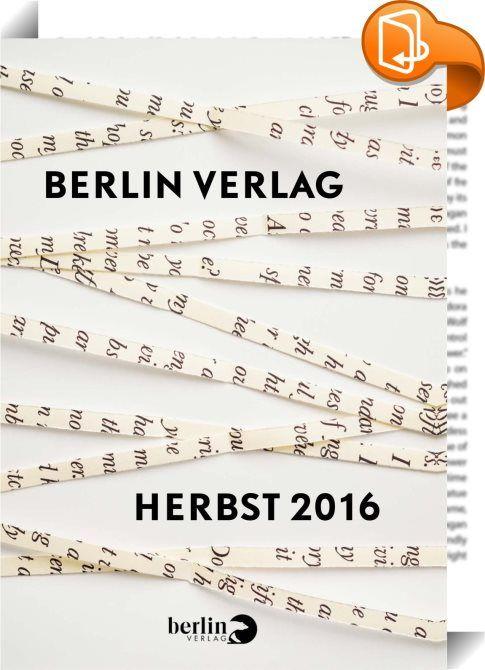 Verlagsvorschau Berlin Verlag