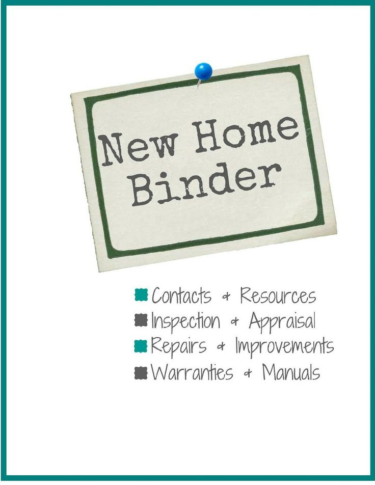 One Tough Mother: New Home Binder + FREE Printables to organize moving into a new home