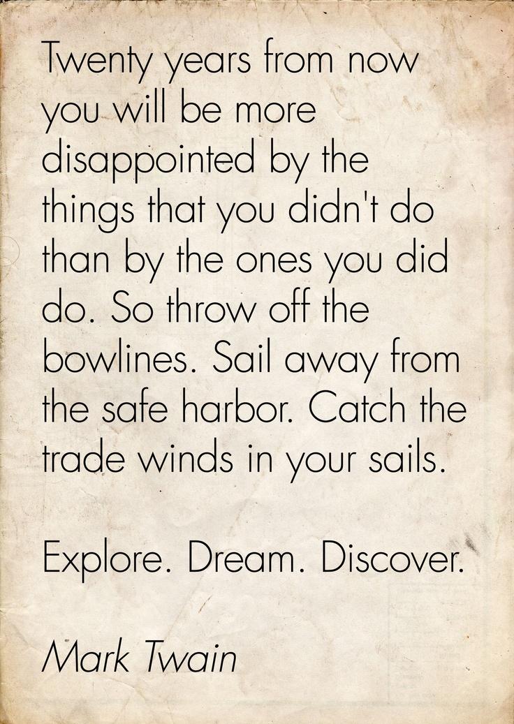 One of my favourite Mark Twain quotes #wanderlust #marktwain