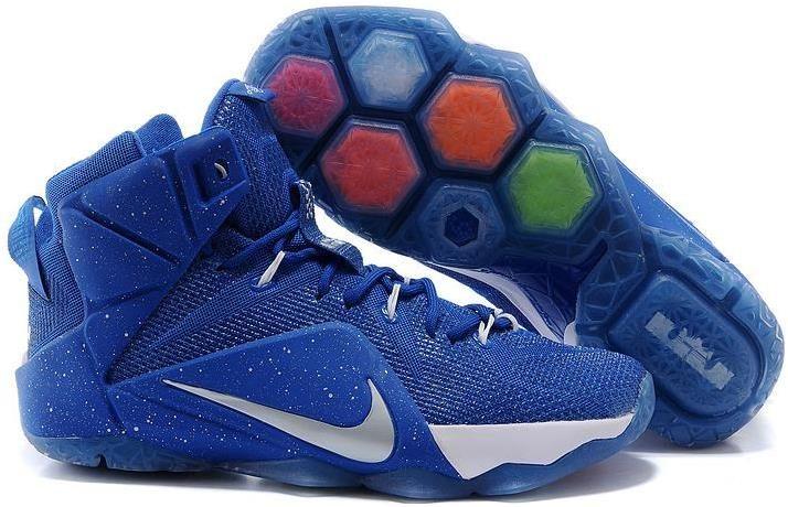 2015 New Arrive Nike LeBron 12 Sapphire Blue White Mens Shoes 2015 Cheap  Online
