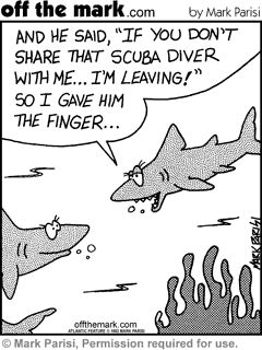 Shark humor, who knew?
