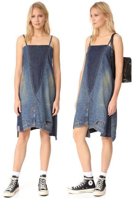 The 2 Jean Dress es una prenda de vestir  hecha  con  dos pares de pantalones cosidos entre sí