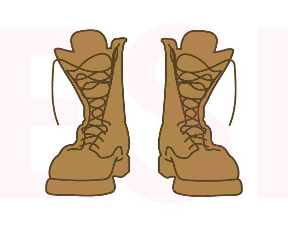 combat boots  army svg  svg  dxf  eps cutting files for