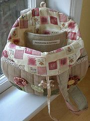 Round Flower Bag - lining | Flickr - Photo Sharing!