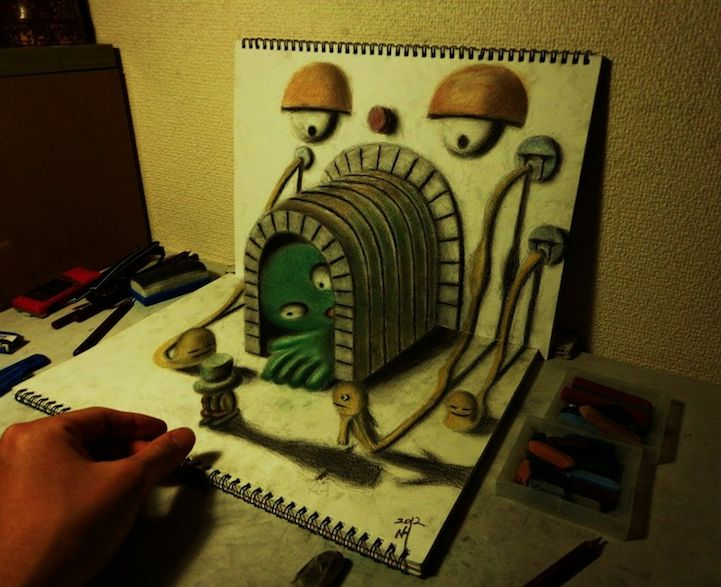 3D Illustrations Come Alive on the Page! - Nagai Hideyuki