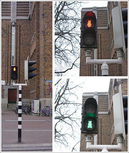 kleur kan zorgen voor betekenis dat je bij rood moet stoppen en groen mag gaan lopen