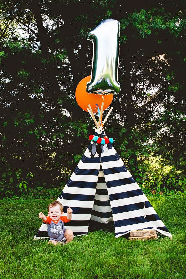 """Mommy,Whitney Beachy, celebrated her little Beau turning one with a creative (and SUPER cute!) """"Beau the Brave"""" First Birthday Party. Inspired by a print"""