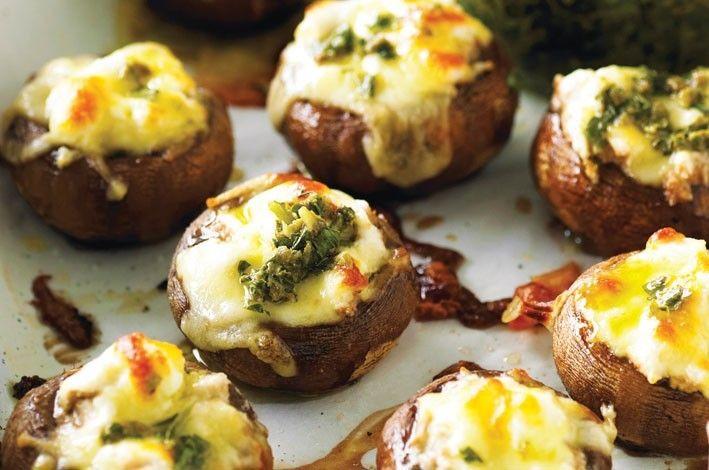 Cheesy Baked Mushrooms