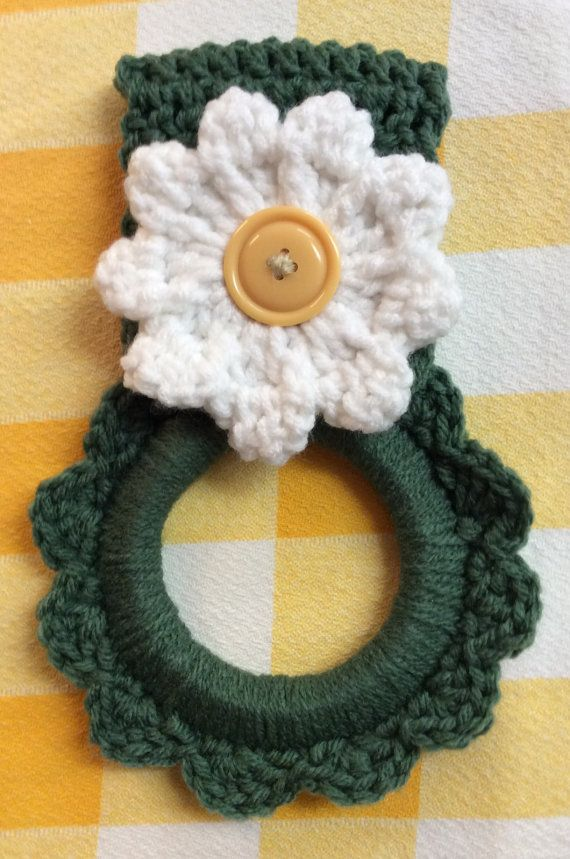 Hey, I found this really awesome Etsy listing at https://www.etsy.com/listing/238988265/daisy-kitchen-towel-hanger-button-towel