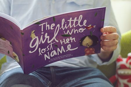 The Little Girl Who Lost Her Name, personalized book...thinking i might need to pick up a few of these for christmas gifts for the nieces <3