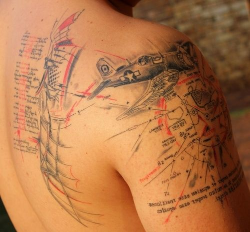 aircraft tattoos - Google Search