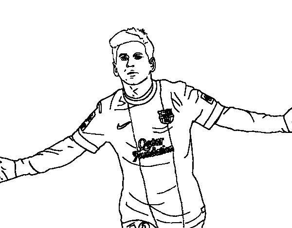 Dibujos Colorear Messi Messi Dibujo Messi Páginas Para Colorear