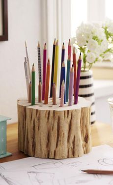 Bouw zelf een houten potloodhouder