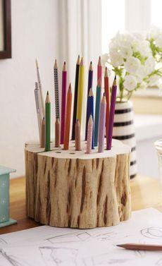 Holz-Stiftehalter selber bauen