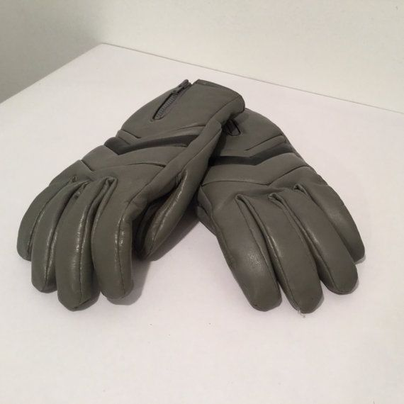 Vintage Men's Gloves Winter Gloves 80s Gloves by MyVintagePoint