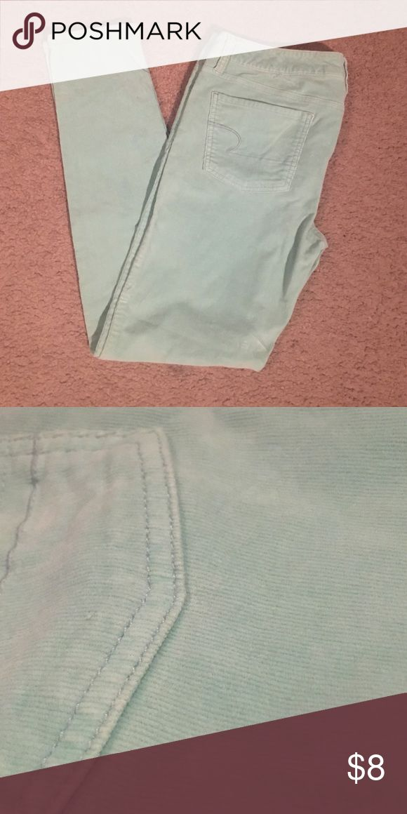 Teal corduroy American Eagle Jeggings Only worn a few times! Teal corduroy jeggings. Perfect for a spring outfit. No flaws. American Eagle Outfitters Jeans Skinny