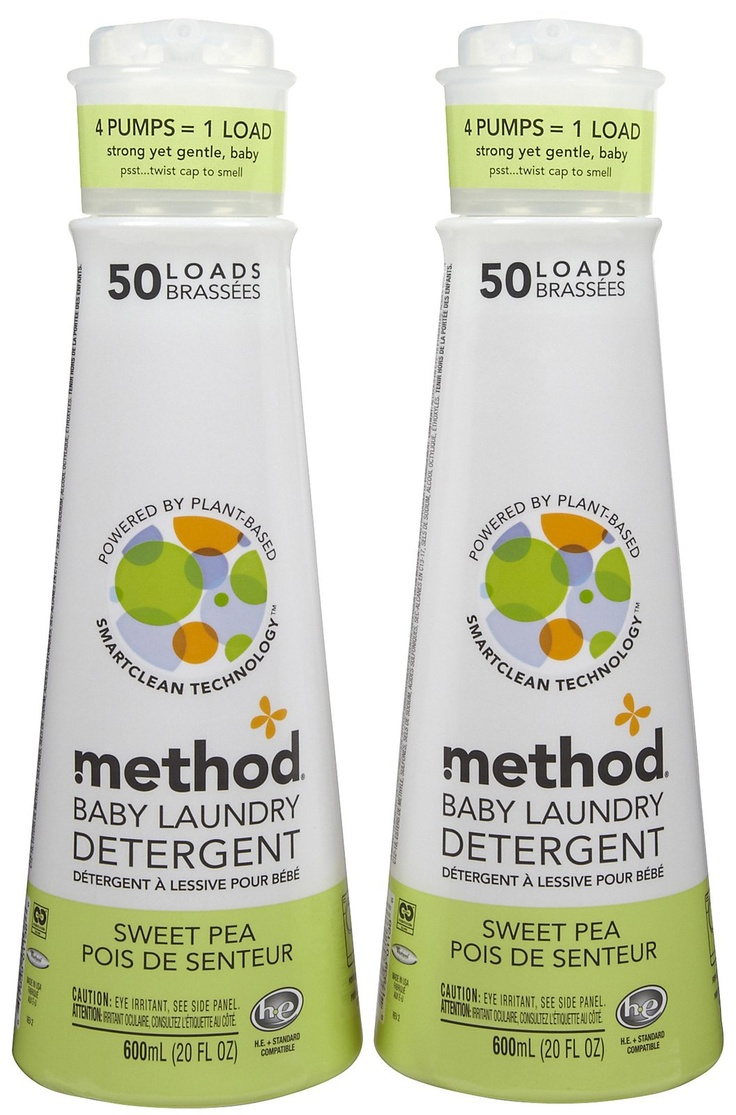 Method Baby Laundry Detergent - Sweet Pea :: Baby Laundry. I work with dogs, that's pretty close to babies and pretty messy too, so this is perfect!