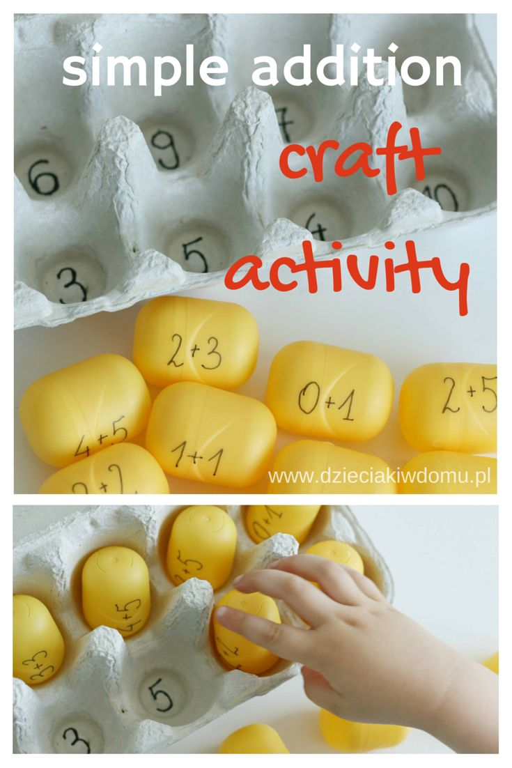 simple addition craft activity for kids