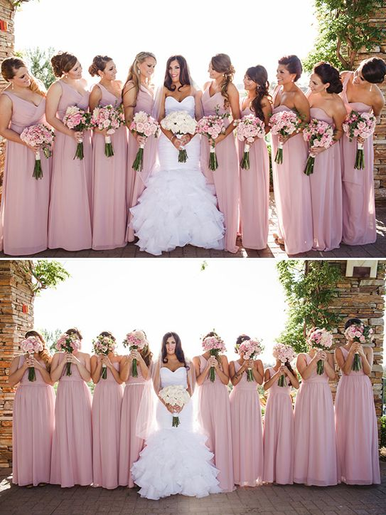Classically Elegant Pink And Black Wedding
