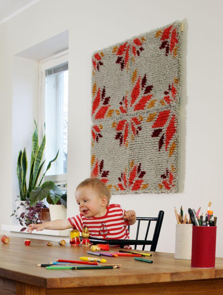 SEINARUUSU ryijy, design Elina Aalto | Finnish contemporary ryijy (rya)