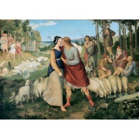 Jacob and Rachel at the Well Erwin Speckter (1806-1835 German) Canvas Art - Erwin Speckter (18 x 24)