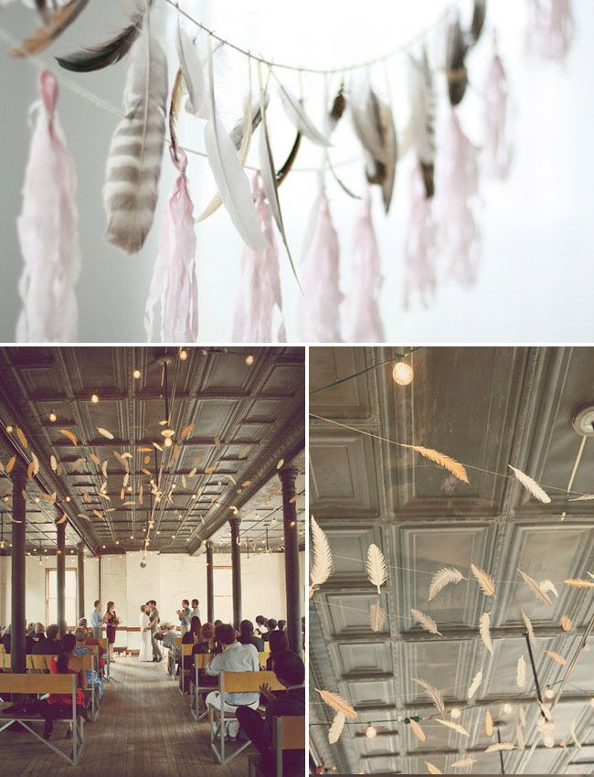 Head Over Heels for: Feathers - a feather wedding? is this my life on film!?