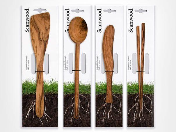 Scanwood kitchen utensils packaging
