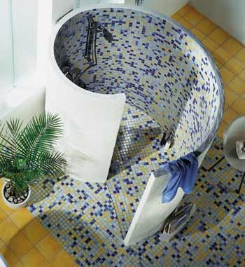 custom curved shower enclosures, but not the crazy pattern