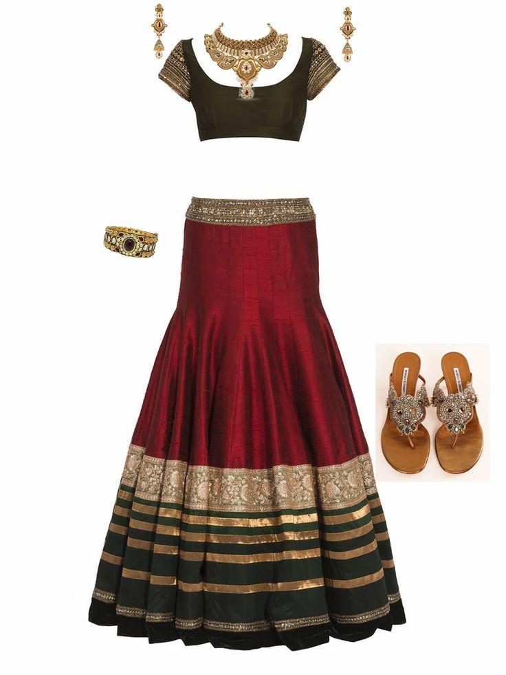 Bridal wear trends for 2014             / Dress by : Manish Malhotra / Antique-Bangles : malanijewelers  / Footware :MANOLO BLAHNIK HEELS