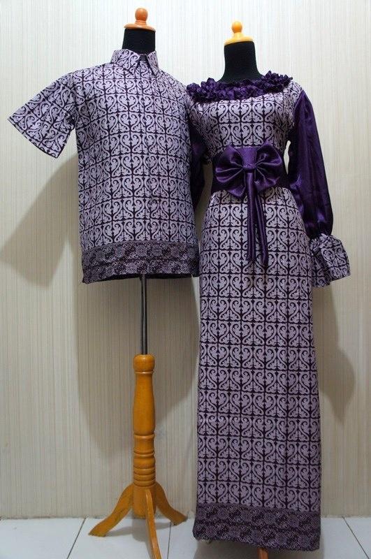 Batik Sarimbit Solo, Code: SBGK Ungu, Price: IDR 170.000, info: BB pin 310C8F9C