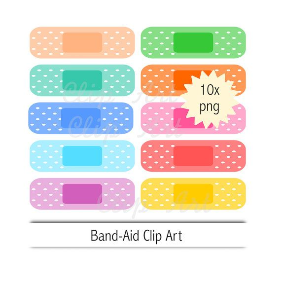 Band Aid Clip Art Instant Download Plaster Clipart Etsy Clip Art Band Aid Band