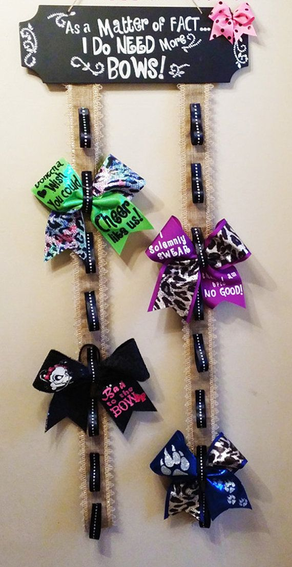 Hey, I found this really awesome Etsy listing at https://www.etsy.com/listing/189516560/cheer-bow-holder-cheer-bow-display-home