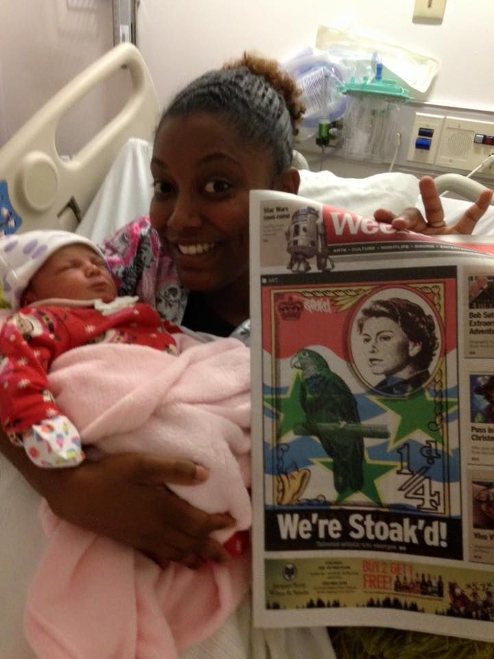 Were STOAKD! Stoakd in the newspaper the day after my little girl was born.