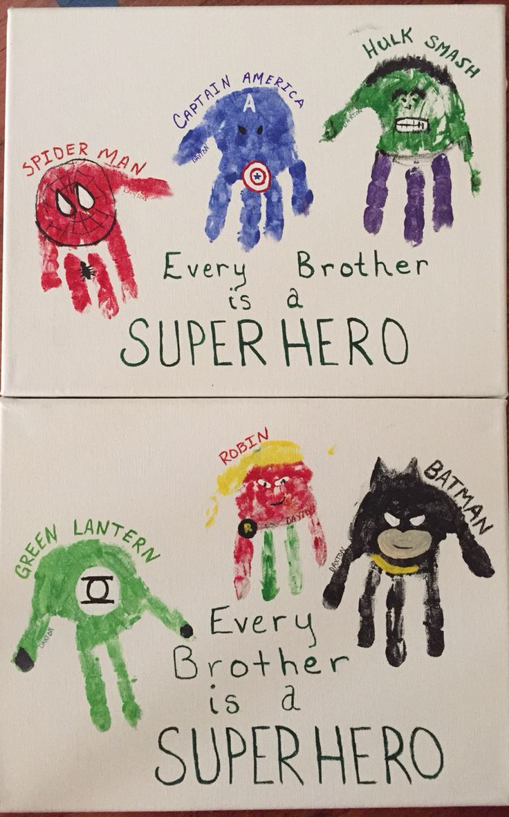 Toddler Classroom Valentine Ideas ~ Superhero handprints every brother is a daxton