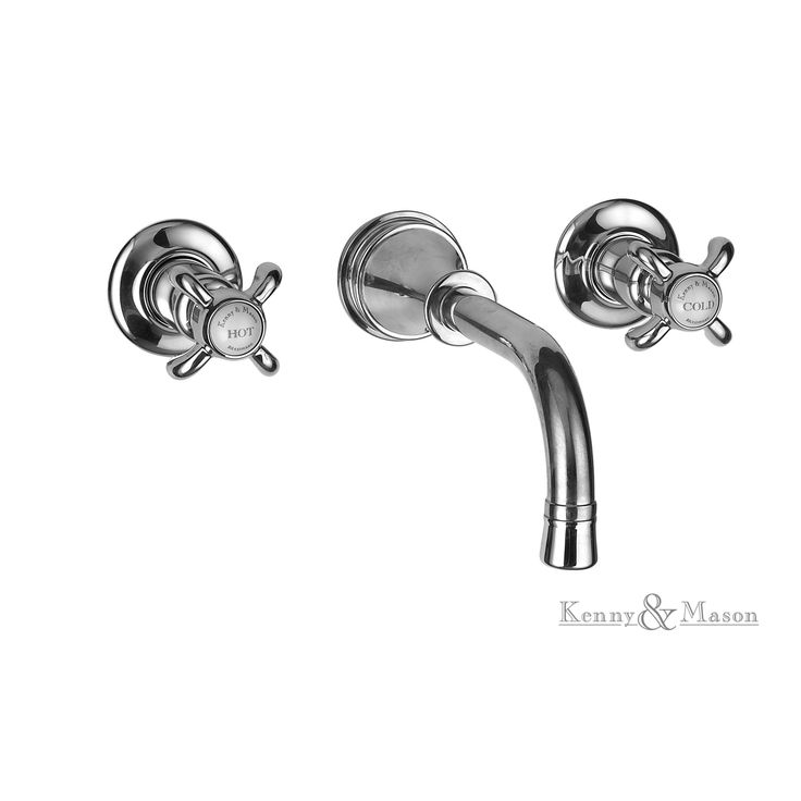 Kenny&Mason Discovery 3 hole wall mixer. This product is available in chrome, nickel, brushed nickel, gold, polished brass and old brass finish. Artn°: NGT1005T