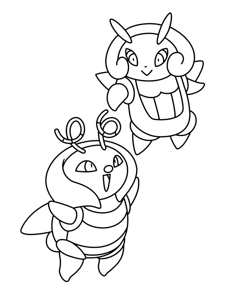 pokemon evolution coloring pages - photo#35