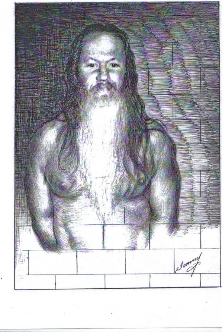 Self Portrait, by Thomas Silverstein, held in extreme isolation at ADS #solitaryconfinement
