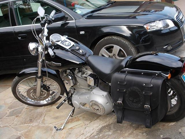 Borsa in cuoio per Harley Softail Leather bag for Harley Softail