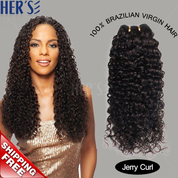 Ее бразильские вьющиеся волосы девственные переплетения 1 шт., 7а необработанные джерри вьющиеся волосы, Дешевые человеческих волос 100 г пучки, Волнистые наращивание волос