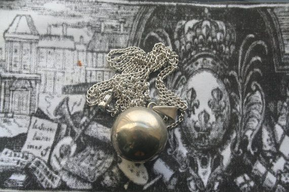 pendant musical ball necklace silver globe by IRISHTREASURE