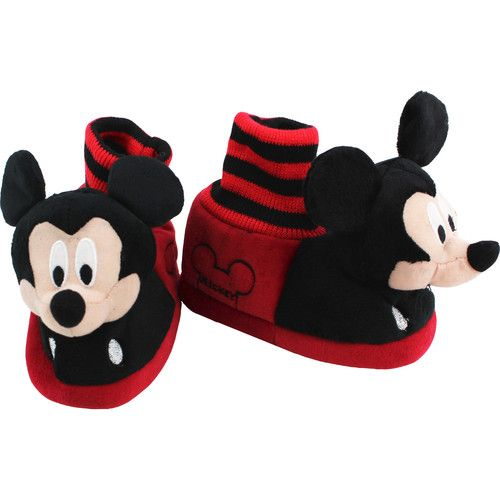 "These adorable Disney Mickey Mouse Clubhouse ""Mickey Mouse"" sock top slippers are the perfect fit for your little mouseketeer! Disney Mickey Mouse Clubhouse ""Mickey Mouse"" slippers feature soft plush uppers, slip resistant soles, and the look of Mickey Mouse himself! Perfect footwear choice for any Disney Mickey & Minnie Mouse fan!"