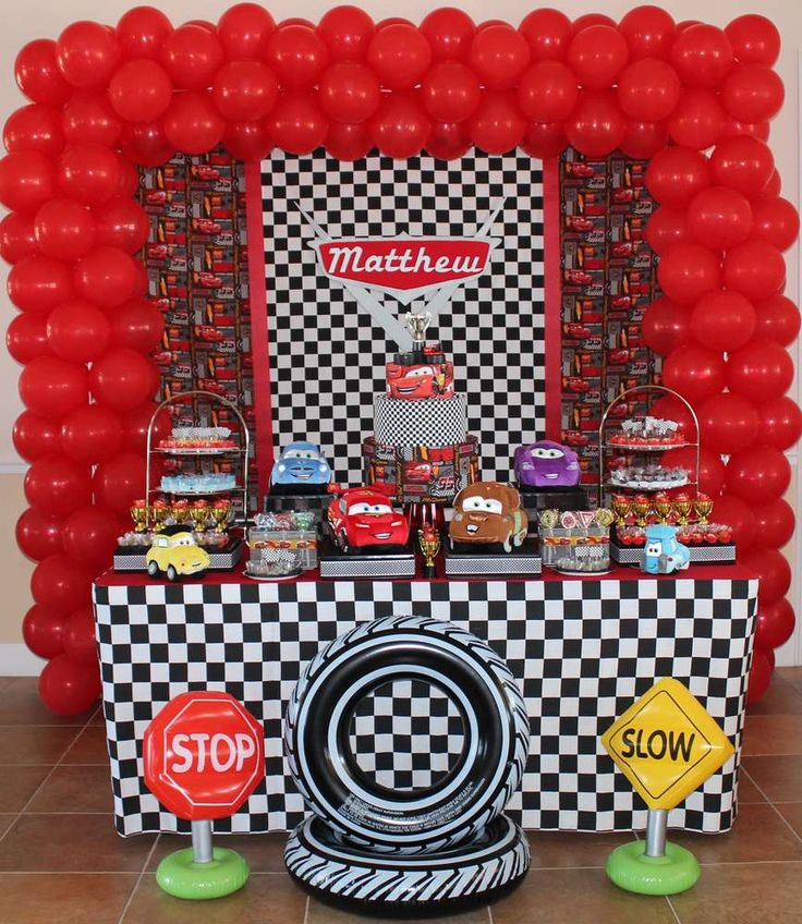 Disney Cars Birthday Party Ideas | Photo 1 of 11 | Catch My Party