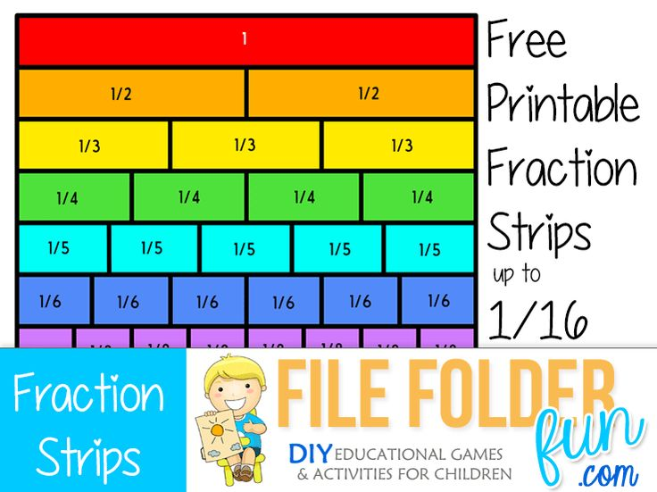 Free Printable Fraction Strips: Our free printable fraction strips are designed to make it easy to teach children fractions and fraction equalities. These printables are available in color and black a...